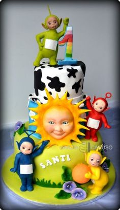 Teletubbies cake - Amazing modelling - For all your cake decorating supplies… Teletubbies Birthday Cake, Teletubbies Cake, Birthday Cake Decorating, Cake Decorating Supplies, 1st Birthday Cakes, Birthday Cake Models, Birthday Ideas, Character Cakes, Novelty Cakes