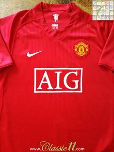 0f2657584 2007 08 Man Utd Home Football Shirt (S)