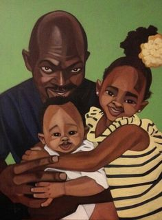 Bright and Cheery Always Lifts Me Up by Cbabi Bayoc - 365 Days with Dad #CbabiBayoc #365DayswithDad #BlackArt #FathersDay