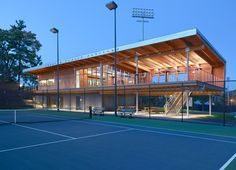 The Cordish Family Pavilion is a small, striking building occupying a pivotal location at the Lenz Tennis Center at Princeton University. On the upper level,...