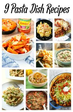 Pasta is always a hit for dinner. You can never go wrong with noodles in pasta sauce. Check out these delicious pasta dishes that would be perfect for dinner: rigatoni, tortellini alfredo, chicken parmesan, macaroni and cheese, orzo, rotini, spaghetti, taco pasta... - 9 Pasta Dish Recipes on Sugar, Spice and Family Life