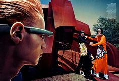 Toni Garrn & Raquel Zimmerman exude alien intention with out of this world fashion in this spread.  Vogue US Sept 2013.