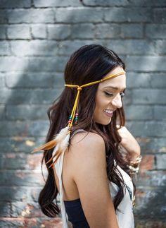 @Jess Pearl Liu Ackerland Chic feather Headbands