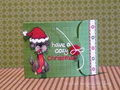 Critters in the Burbs (Lawn Fawn) - gift card holder