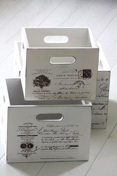 Quriosa Interior - Puulaatikko Medailles Vintage Box, Vintage Decor, Box Packaging Templates, Decoupage Box, Pallet Creations, Pallet Art, Diy Box, Old Paper, Toy Boxes