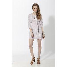 Vestido corto con estampado floral tipo liberty y puntillas en pecho Rosado - Mauna Barcelona - fashion - moda