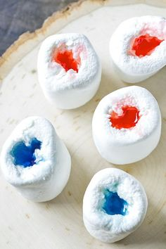 Marshmallow Jello Shots ~ great for those summer camp outs! Roasted marshmallow shots on the fire!!