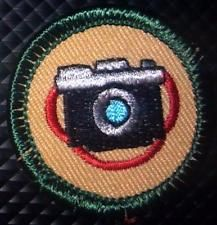 2001-2010 Retired Girl Scout MILLENIUM Badge CAMERA SHOTS - PHOTOGRAPHY
