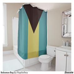 Shop Bahamas flag shower curtain created by FlagGallery.