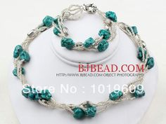 Aliexpress.com : Buy Free Shipping Fashion Nut  Turquoise and Glass Beads Necklace and  Bracelet Set from Reliable bracelet pin suppliers on...