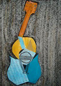 Picasso Guitar Collages | AllFreeKidsCrafts.com