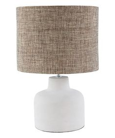 Another great find on #zulily! Modern Gray Fabric & Stone Concrete Table Lamp #zulilyfinds