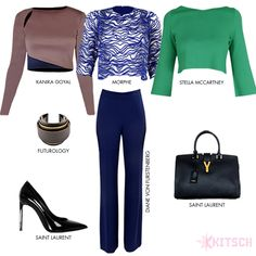 The perfect styling for a cropped top of your choice. @stellamccartney @dvf @y