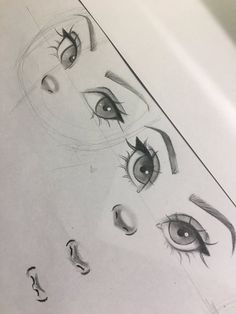 Christina Lorre is so talented Pencil Art Drawings, Art Drawings Sketches, Cartoon Drawings, Cartoon Art, Cute Drawings, Nose Drawing, Drawing Tips, Drawing Faces, Cute Eyes Drawing