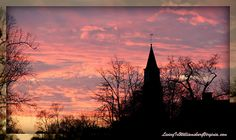 One of many beautiful sunsets over Bruton Parish Church on Duke of Gloucester Street in Colonial Williamsburg.