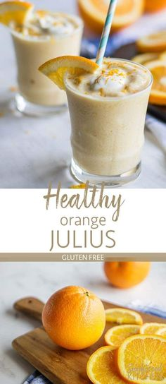 Healthy Orange Julius Smoothie Recipe / This fresh orange smoothie is a flashback to childhood! This clean version uses whole oranges for a healthy, refreshing snack! | SUNKISSEDKITCHEN.COM | #orangejulius #smoothie #orange #healthy #orangesmoothiesrecipes