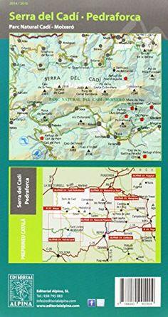 Serra del Cadí-Pedraforca-Moixeró. Escala 1:25.000. Catalán, castellano e inglés. Mapa-guía. Editorial Alpina. (Mapa Y Guia Excursionista)  #ParquedeVigeland