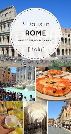 Heading to Rome? Check out this comprehensive guide for what to do during your three days in Rome, Italy. : Heading to Rome? Check out this comprehensive guide for what to do during your three days in Rome, Italy. European Vacation, Italy Vacation, European Travel, Italy Trip, Italy Travel Tips, Rome Travel, Traveling To Italy Tips, Places To Travel, Places To See