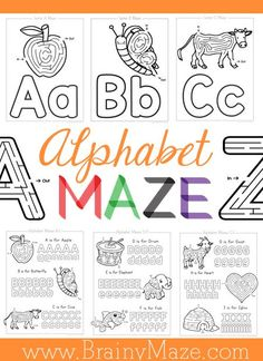 Free ABC Mazes & Handwriting Worksheets for Kids | Homeschool ...
