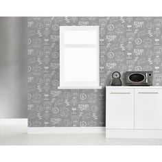 Arthouse Wordsworth Grey Wallpaper