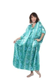Satin Caftan/Kaftan Combo, 3 Caftans with Blue Shades, Special#11 Up2date Fashion. $33.99