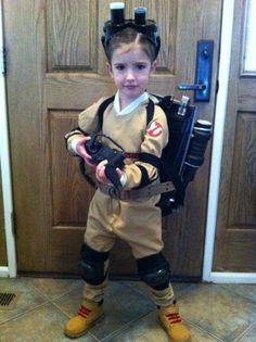 Who ya gonna call? This girl who is cute in her ghostbusters costume!