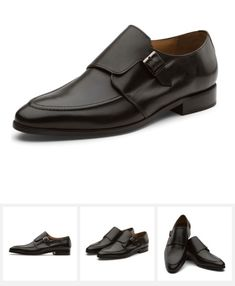 b2261cf31ba9 MARQUIS CLASSIC SINGLE MONKSTRAP LEATHER LINED PERFORATED DRESS OXFORDS  SHOES    BLACK