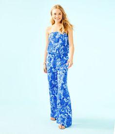 2fea84d8363ff4 Lilly Pulitzer Favorites - Forever VanLandingham Strapless Jumpsuit, Resort  Dresses, Retro Chic, Lilly