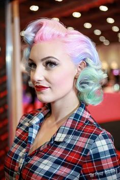 The Artistry Of Hair | Multicolored rockabilly hair