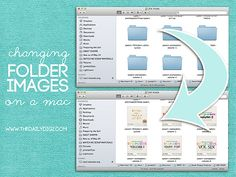Changing Folder Images on a Mac. This is one of the most helpful things I never knew I could do with my Mac!