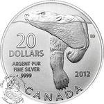 Canada: $20 Polar Bear 2012 Pure Silver Coin