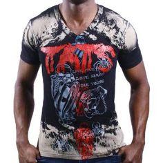 ED HARDY Christian Audigier Skeleton V Neck Mens T-Shirt (Apparel)  http://www.amazon.com/dp/B007HQ4JAW/?tag=goandtalk-20  B007HQ4JAW