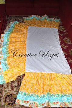 Creative Urges-Creative Blogspot: How to make a crib skirt/dust ruffle tutorial...