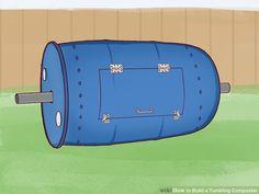 3 Ways to Build a Tumbling Composter - wikiHow Barrel Roll, Metal Barrel, Rain Barrel, Diy Compost Tumbler, Compost Barrel, Tumbling Composter, Galvanized Steel Pipe, Veg Garden, Garbage Can