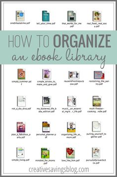 If you've ever purchased an eBook or PDF, you know how easy it is for files to clutter up your hard drive. This simple, yet effective way to organize an eBook library keeps the best digital resources at your fingertips, whether you have 9 eBooks or Books To Read, My Books, Library Organization, New Age, Book Lists, So Little Time, Good To Know, Book Worms, Just In Case