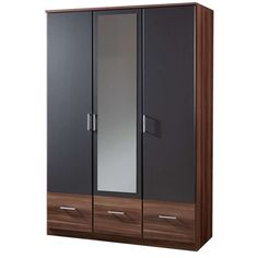 Wardrobe Storage Cabinet, Closet Organizer With Drawers, Wardrobe Drawers, Wardrobe Furniture, Wardrobe Doors, Cabinet Closet, Wooden Closet, Wooden Wardrobe, Mirrored Wardrobe