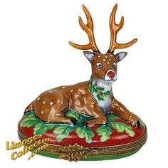 RUDOLPH THE RED-NOSED REINDEER LIMOGES BOX (BEAUCHAMP)