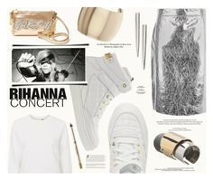 """Hot Ticket: Rihanna Concert"" by katarina-blagojevic ❤ liked on Polyvore featuring DKNY, Moschino, Topshop, Betsey Johnson, Eddie Borgo, Louis Vuitton, SANCHEZ, Maison Margiela, Anastasia Beverly Hills and EASTON"