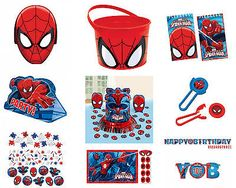 Spiderman birthday party #tableware 2015 #range #decoration items,  View more on the LINK: http://www.zeppy.io/product/gb/2/321812648281/