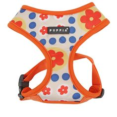 Puppia Authentic Blossom Harness A, Large, Orange * Details can be found by clicking on the image.