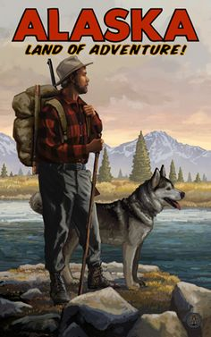 I love Paul A, Lanquist's art! I have some of his prints from North Carolina and went to checkout what he had for Alaska!