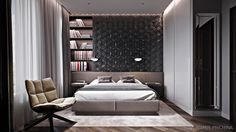 contemporary_bedroom on Behance