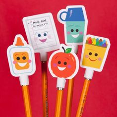 Back-to-School Pencil Toppers   Printables   Spoonful
