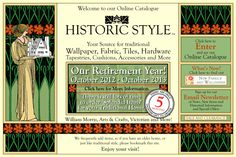 another great resource for craftsman houses!  very nice reproduction wallpapers...