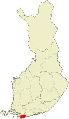 Lage von Raseborg in Finnland