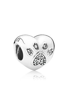 Pandora Charm - Sterling Silver & Cubic Zirconia I Love My Pet, Moments Collection