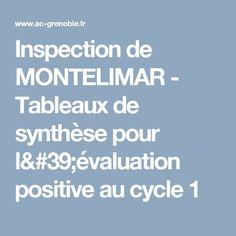 Inspection de MONTELIMAR - Tableaux de synthèse pour l'évaluation positive au cycle 1