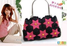 Plastic canvas purse with step by step picture instructions