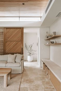 Minimalist Home Interior .Minimalist Home Interior Home Living Room, Living Room Decor, Spa Like Living Room Ideas, Tile In Living Room, Earthy Living Room, Bedroom Decor, Barn Living, Decorating Bedrooms, Decor Room