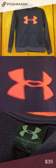 Women's size small Under Armour hoodie! Women's Under Armour hoodie-size small. Deep purple color with pink UA symbol. Great condition, only sign of wear is inside the hood looks slightly pilled. Outside of hoodie is in great shape! Missing drawstring in the hood.  SEND REASONABLE OFFERS :) Under Armour Tops Sweatshirts & Hoodies